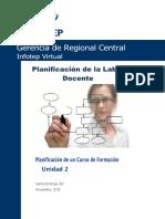Planificacion de la labor docente  unidad 2