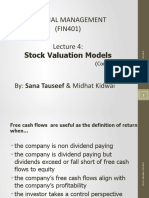 FM-Lecture4 + K-Stock Valuation contd