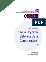 Colle - que es la teoría cognitiva sistémica de la comunicación