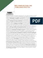 LOS 10 MEJORES CONSEJOS PARA UNA CAMPAÑA DE PUBLICIDAD EFECTIVA