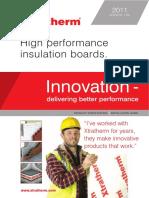 Xtratherm High Performance Instulation Boards