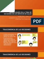 GENERALIDADES EN LA TOMA DE DECISIONES EN LOS