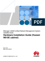 iManager U2000 V200R014C60 Hardware Installation Guide (Huawei N610E cabinet) 03.pdf