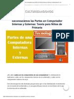 ⇒ Partes una Computadora para Niños de Primaria Internas y Externas _ Culturizandonos.com