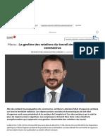 Maroc_ La gestion des relations du travail dans le contexte du coronavirus, Partenaire - Les Echos Executives.pdf