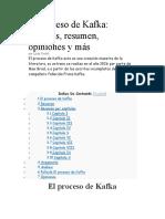 El proceso de Kafka