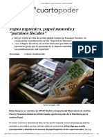 """Papel higiénico, papel moneda y """"paraísos fiscales"""""""