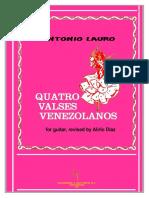 A. Lauro. 4 Valses Venezolanos