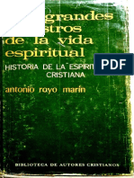 ROYO MARIN, A., Los grandes maestros de la vida espiritual, BAC, 1973