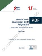 MP-011 Manual para la elaboración Plan de Asignatura USB V.1