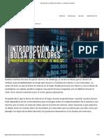 Introducción a la Bolsa de Valores - La Buena Inversión