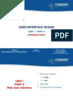 3 - UNIT I - PART II - WEB USER INTERFACE