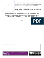 Potential of floating solar technology in Malaysia
