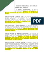 RELACION DEL DERECHO REGISTRAL CON OTRAS RAMAS DEL DERECHO