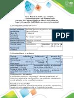 Guía de actividades y rúbrica de evaluación - Paso 3 - Desarrollar habilidades en producción animal