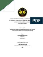 Metode pemograman konveyor dengan fungsi pencacah barang berbasis PLC omron