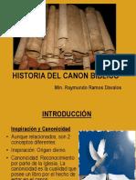 HISTORIA DEL CANON BÍBLICO
