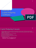 Capital budgeting reference