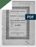 Constitución Política de la República del Perú de 1839 (Constitución de Huancayo)