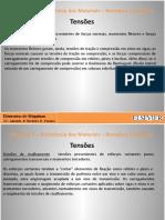Capítulo 2 Resistência dos Materiais - Revisão e Conceitos