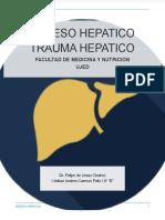 ABCESO HEPATICO - TRAUMA HEPATICO