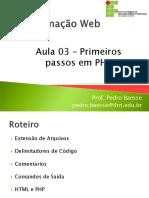 Aula 03 - Introducao ao PHP