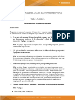 Taller de análisis diagnóstico presupuestal