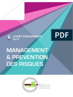 LIVRET ENCADRANTS 2015 - MANAGEMENT & PREVENTION DES RISQUES
