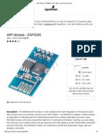 WiFi Module - ESP8266 - WRL-13252 - SparkFun Electronics.pdf