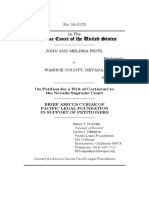Brief Amicus Curiae of Pacific Legal Foundation in Support of Petitioners, Fritz v. Washoe County, No. 19-1175 (Apr. 24, 2020)