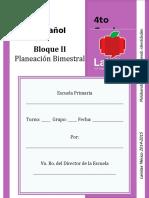 4to Grado - Bloque 2 - Español LAINITAS