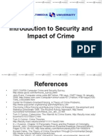 Introduction to Security and Impact of Crime