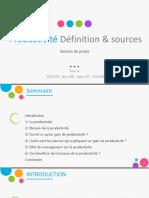 exposé ppt Productivité Déf & Sources.pdf