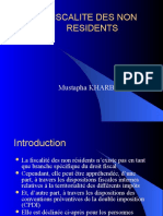 FISCALITE DES NON RESIDENTS PPT