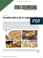 ▷ Comida típica de la región caribe - Tierra Colombiana