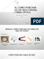 MANUAL COMO PONCHAR UN CABLE DE RED,COAXIAL Y FIBRA OPTICA