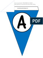 Banderines azules alfabeto
