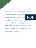 propuesta pedagógica dlel Ciclo. GUIAS 2008