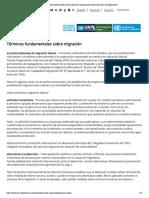Términos fundamentales sobre migración _ Organización Internacional para las Migraciones