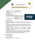 SILABO DE INVESTIGACIÓN APLICADA II - 202O