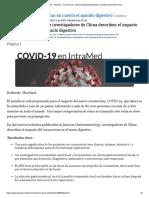 Coronavirus_ Síntomas gastrointestinales y posible transmisión fecal