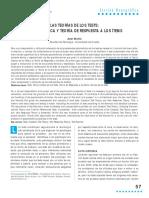 LAS TEORÍAS DE LOS TESTS TEORÍA CLÁSICA Y TEORÍA DE RESPUESTA A LOS ÍTEMS.pdf