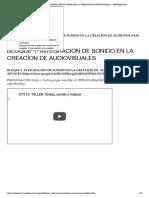 INTEGRACION DE SONIDO EN LA CREACION DE AUDIOVISUALES