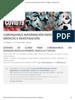 Coronavirus información especial para Médicos e Investigación - Andreas Kalcker.pdf