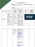 plan de aula español  segundo 1°p 2020