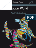 Adult Coloring Book - Dragon World