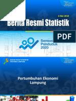 Paparan Pertumbuhan Ekonomi Lampung TW-1 2019