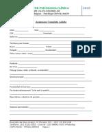 Anamnese Completa Adulto Paciente