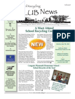 Fall 2009 New Hamshire School Recycling Club Newsletter