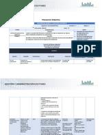 Planeación didáctica Unidad 1 con fechas.